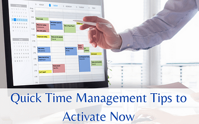 Quick Time Management Tips for Entrepreneurs to Activate Now
